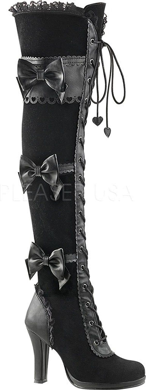 25 + › Demonia GLAM 300 Damen Lolita Gothic Stiefel: Amazon