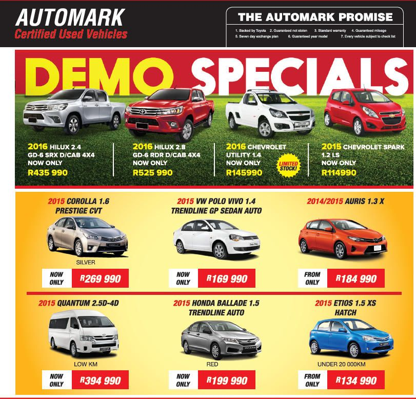 Durban South Toyota On Sale Specials. View our New Car