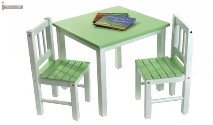 Kids Table u0026 Chair Set-Table u0026 Two Chairs - Green (Green and White) (Sizes Vary)  sc 1 st  Pinterest & Buy Kids Study Room Furniture online at low prices in India at ...