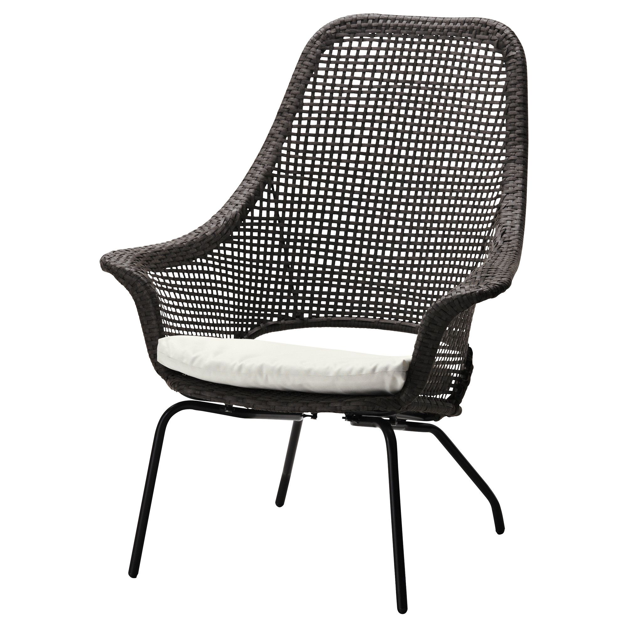 Rattan Sessel Ikea On The Patio AmmerÖ Rattan Armchair With Pad Dark Brown Beige
