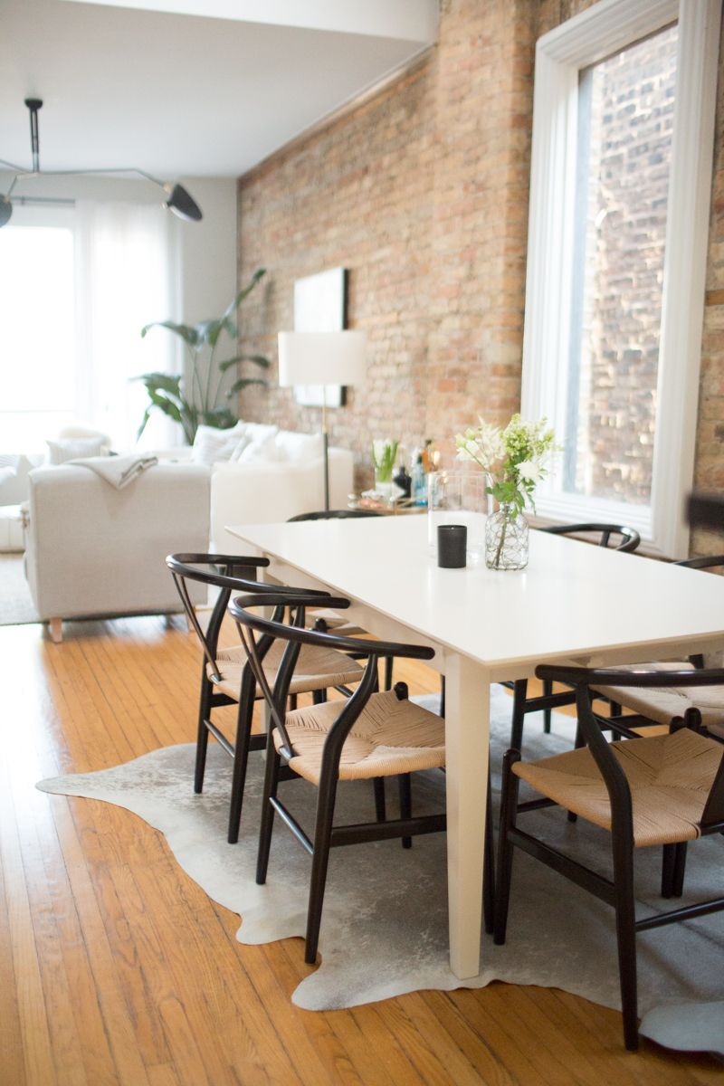 Cofounder's Scandinavianinspired Apartment  Chicago Apartments Stunning Rug Under Kitchen Table Decorating Inspiration