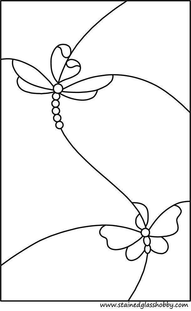Butterflies stained glass pattern | Patterns | Pinterest | Butterfly ...