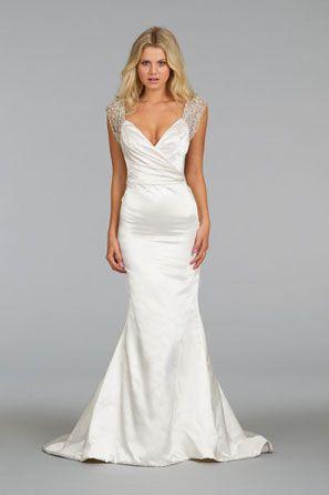 Alvina Valenta Bridal Silk Satin Gown V Neckline
