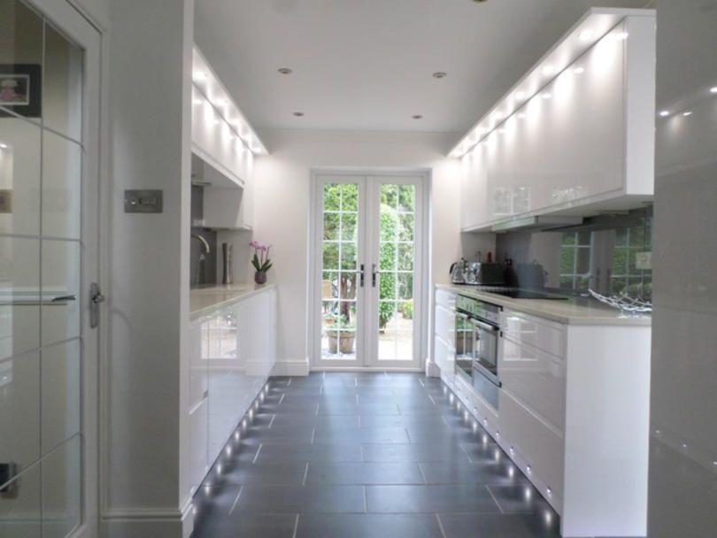 Remo Gloss White Anglia Interiors Galley Kitchen Design White Gloss Kitchen Handleless Kitchen