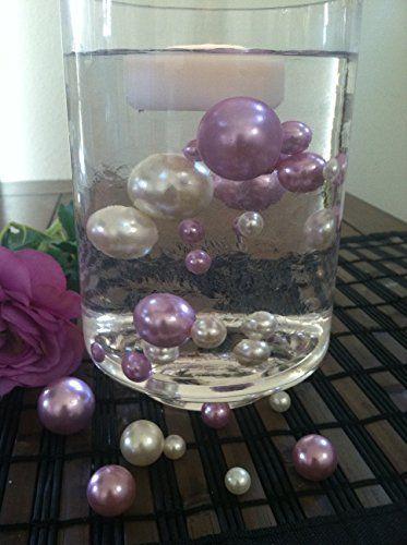 50 Lavendarwhite Vase Filler Pearls For Floating Pearl C Https