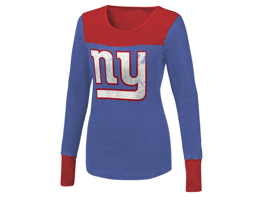 e9a5b17cd New York Giants Touch by Alyssa Milano NFL Women s Blindside Thermal Long  Sleeve T-Shirt