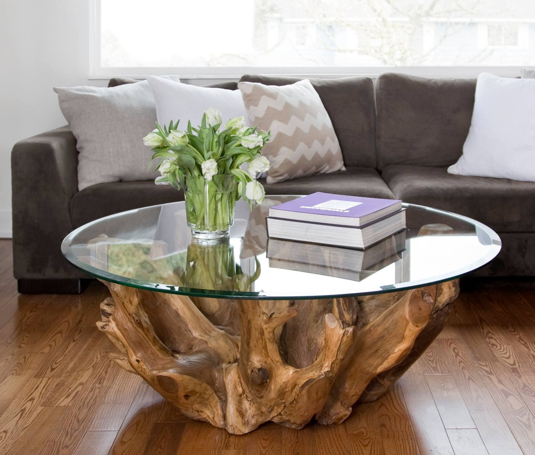 Rustic round coffee table riverside round root coffee table  csináld magad  pinterest