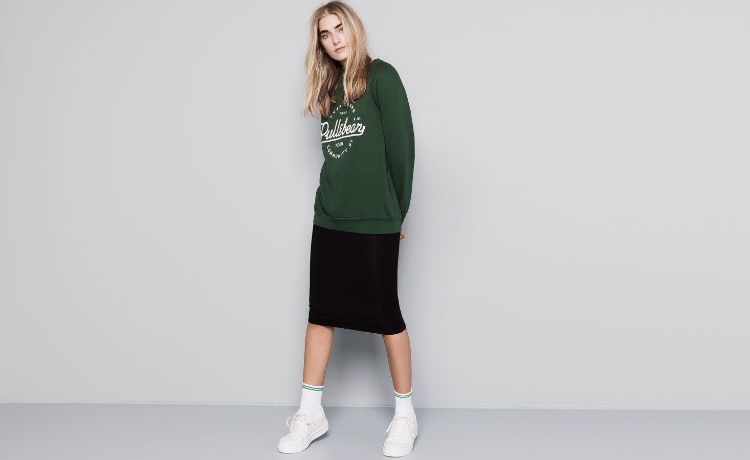 Pull&Bear - woman -  logo sweatshirt - bottle