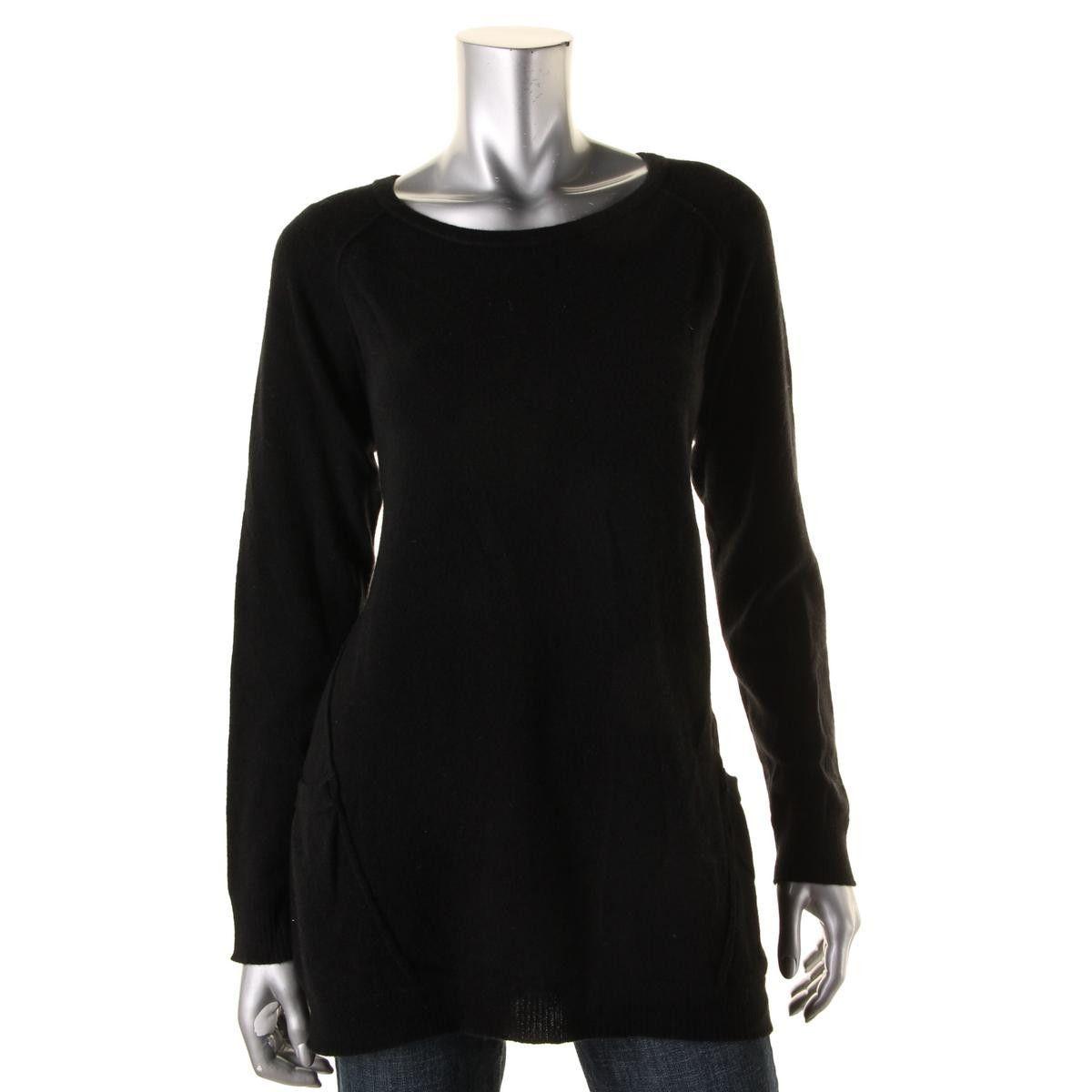Aqua Cashmere Womens Cashmere Pockets Tunic Sweater | Products ...