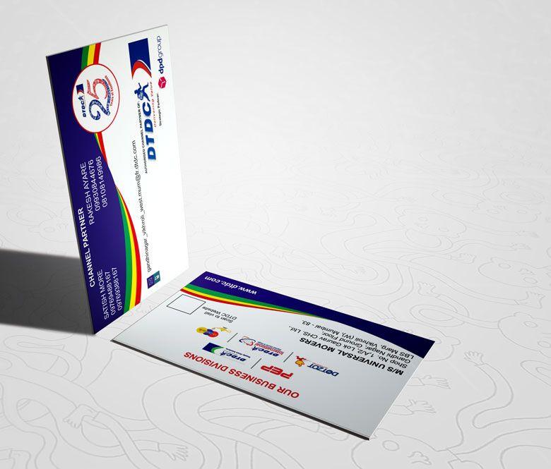 Dtdc Business Card Business Cards Business Card Design Cards