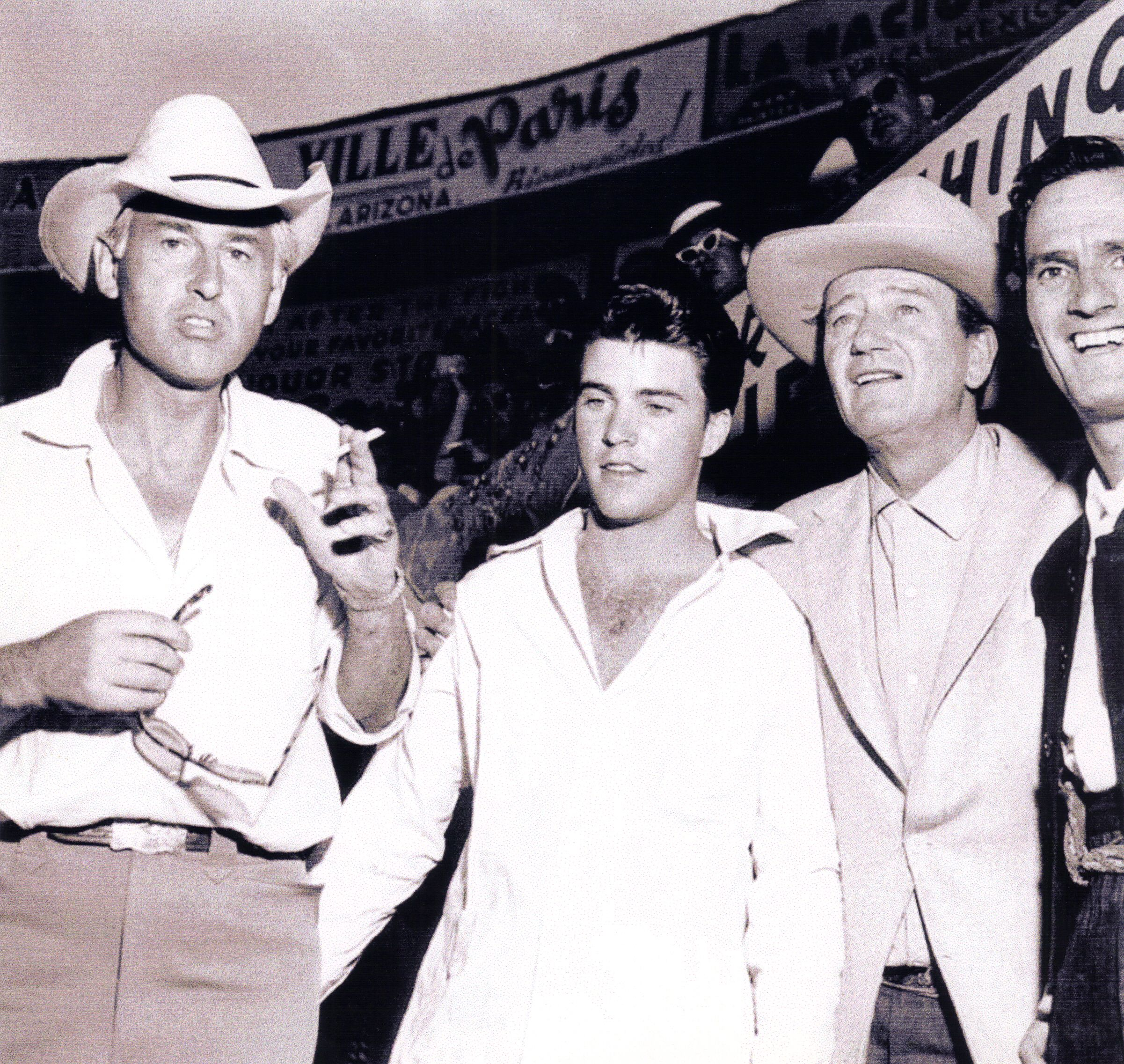 At the Bull-fights with Actor Stewart Granger and John Wayne ... 089190d885b9