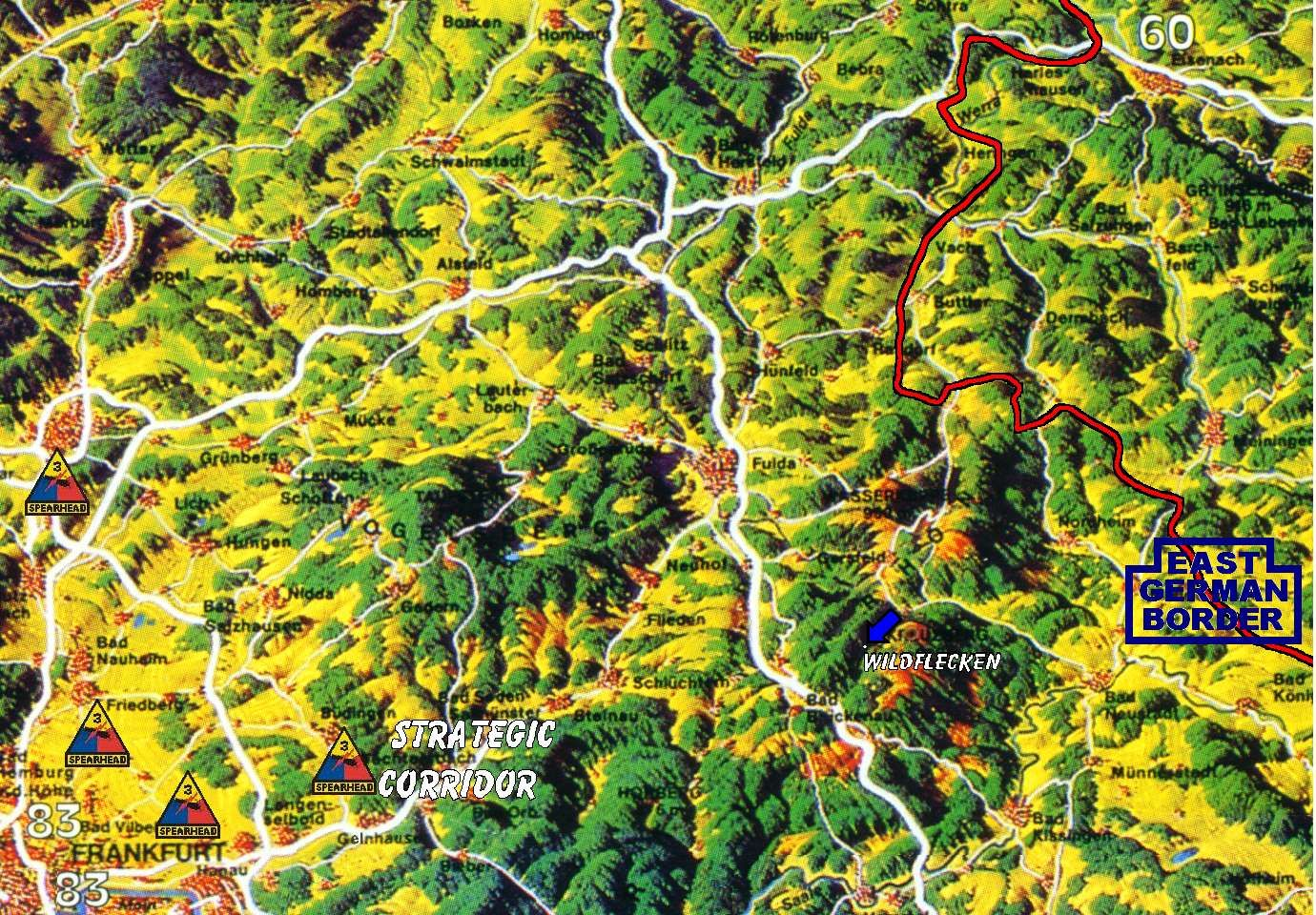 Topographical Map of the Fulda Gap Topographical