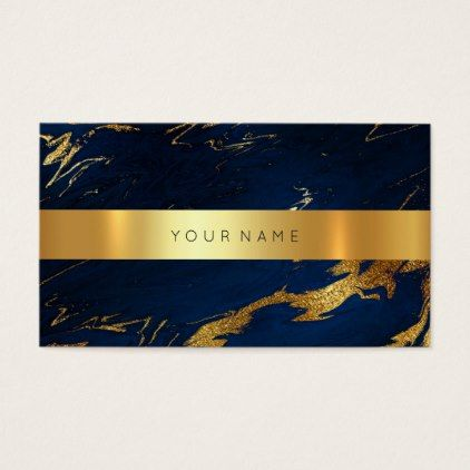 Navy Blue Grungy Gold Marble Vip Business Card2 Business Card Zazzle Com Vip Card Design Gold Business Card Vip Card