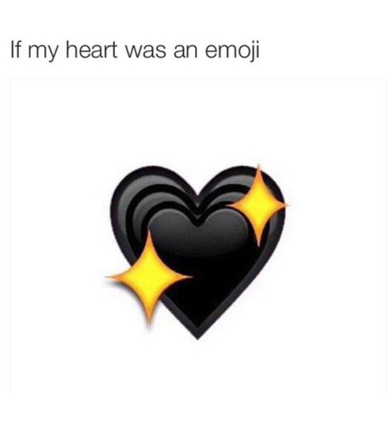Black heart emoji   Truth&sayings   Pinterest   Black heart emoji ...