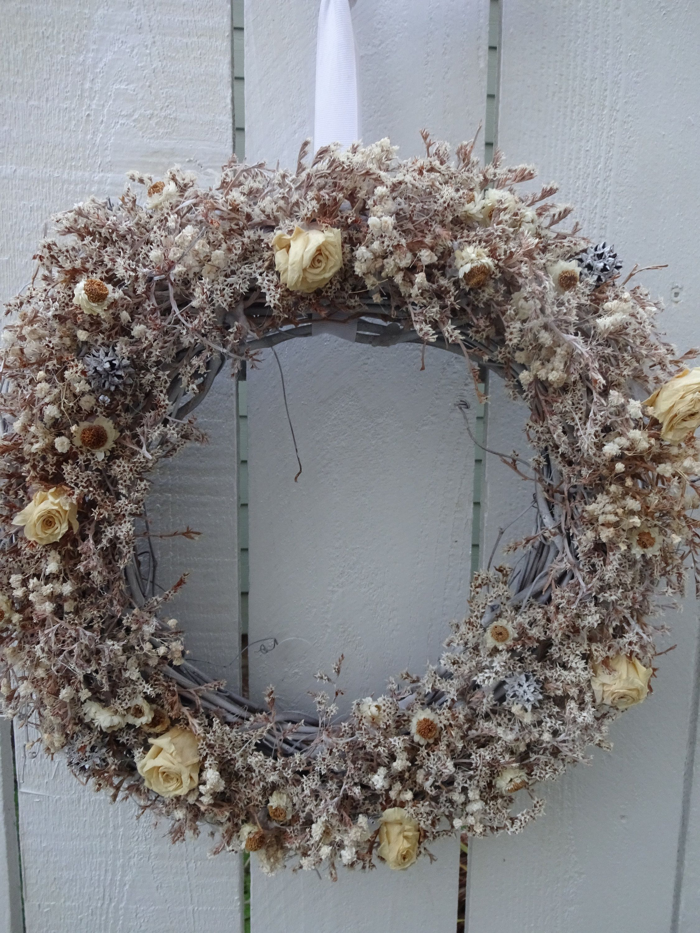 Photo of Items similar to Dried Wreath  Natural Wreath  Wall Decoration  Wedding Wreath  Shabby Chic  Shabby Chic Decor  Wreath For Indoors  Accent Wreath on Etsy
