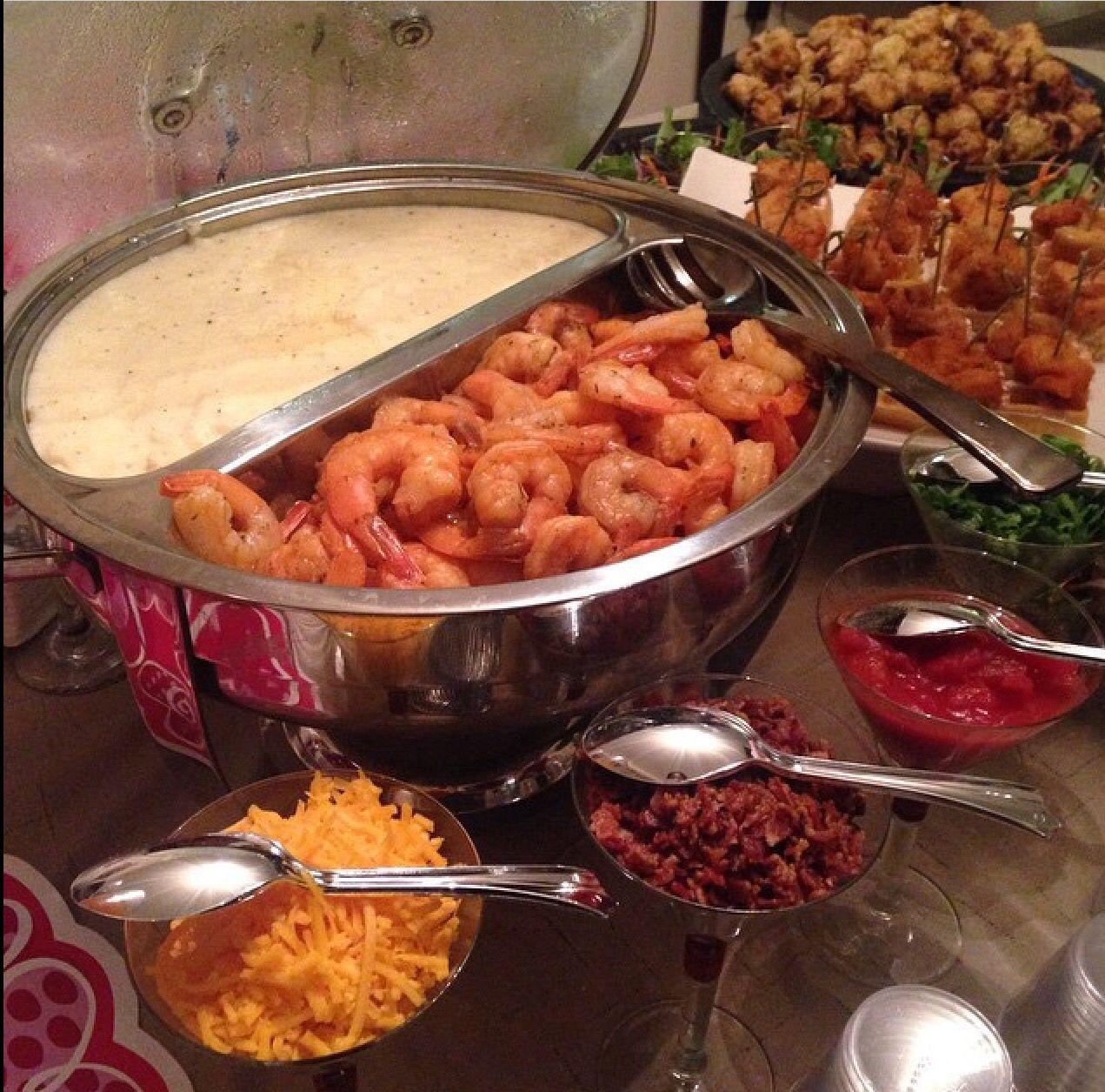 Shrimp And Grits Bar Food Reception Food Wedding Food