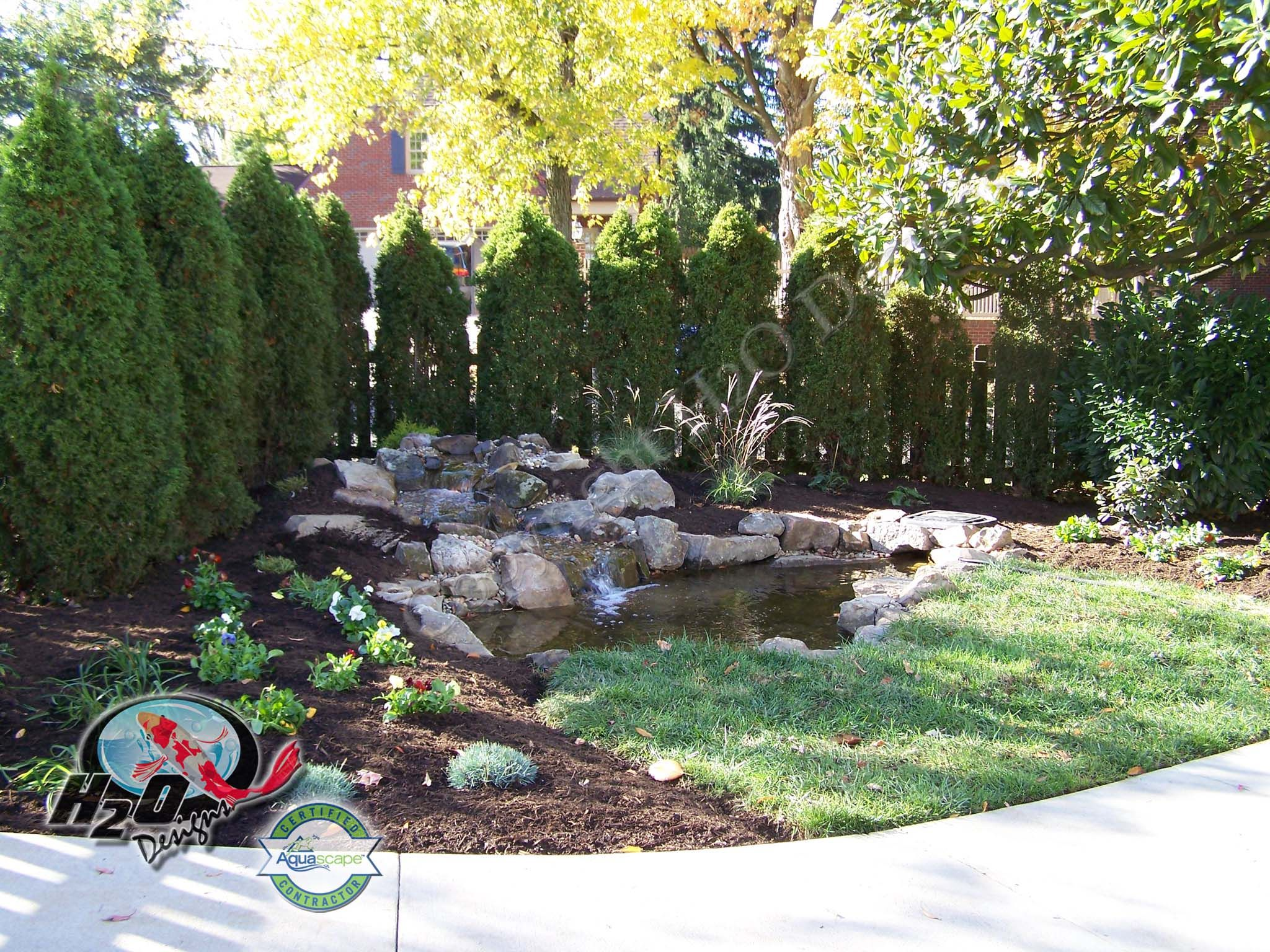 Backyard Landscape Pond Idea Lexington Kentucky Ky Ponds Backyard Landscape Design Backyard Landscaping