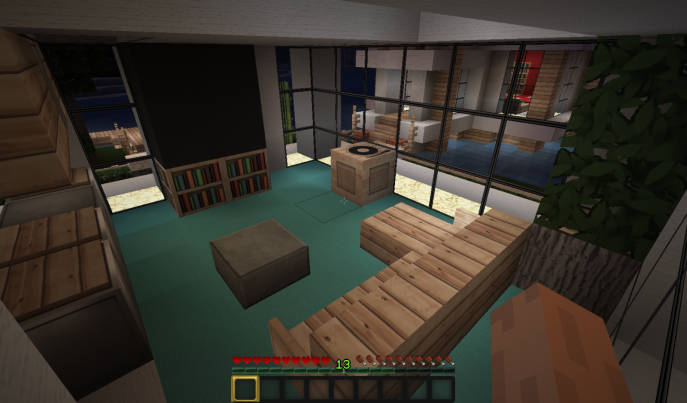 Living Room Minecraft Redstone Living Room Cute Minecraft Living Room Minecraft Survival Living Roo Craftsman Living Rooms Living Room Images Beach Floor Plans