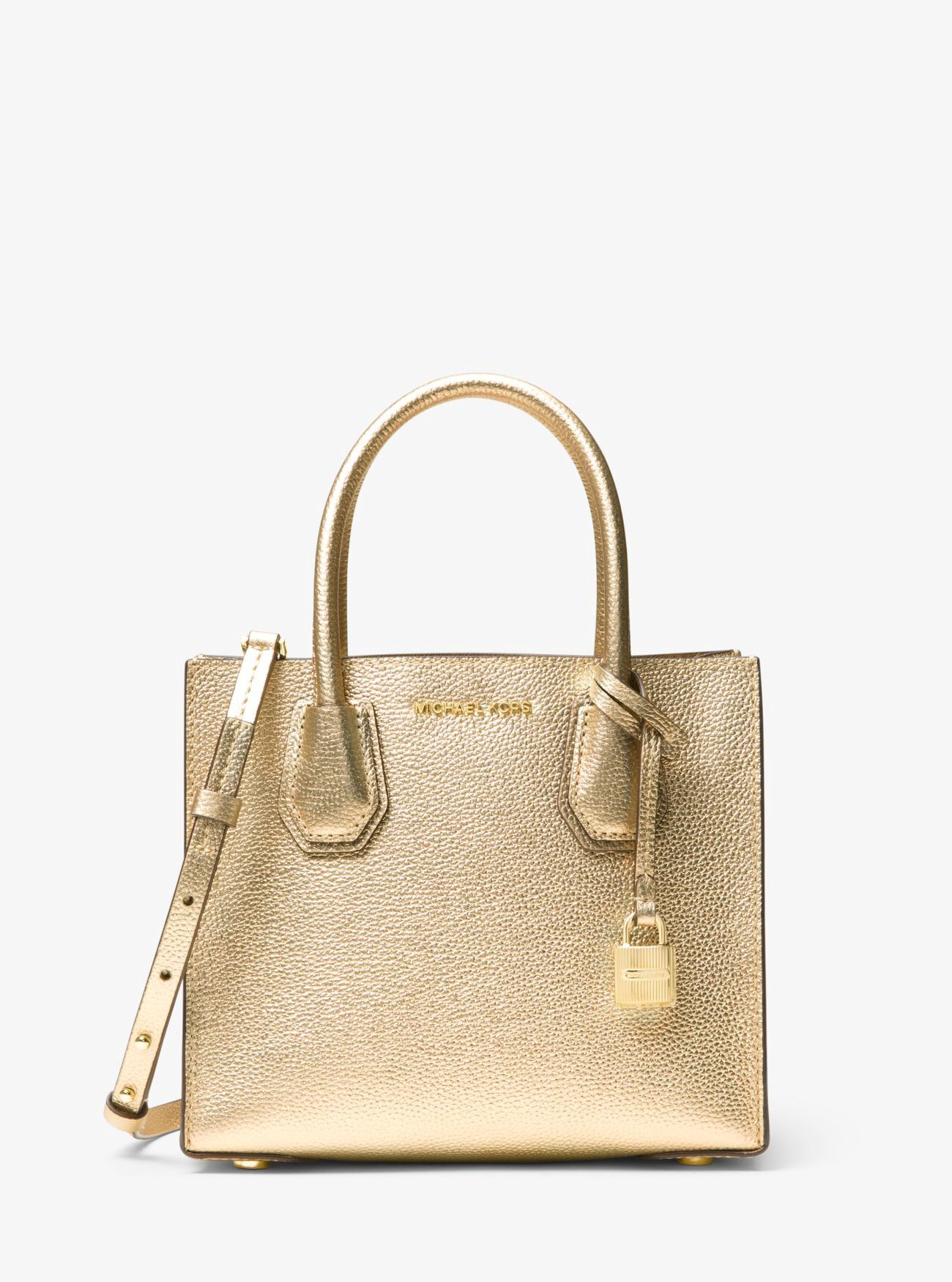 MICHAEL KORS Mercer Metallic Leather Crossbody.  michaelkors  bags   polyester  crossbody  leather  lining  metallic  shoulder bags  hand bags   e258e2edec2b2