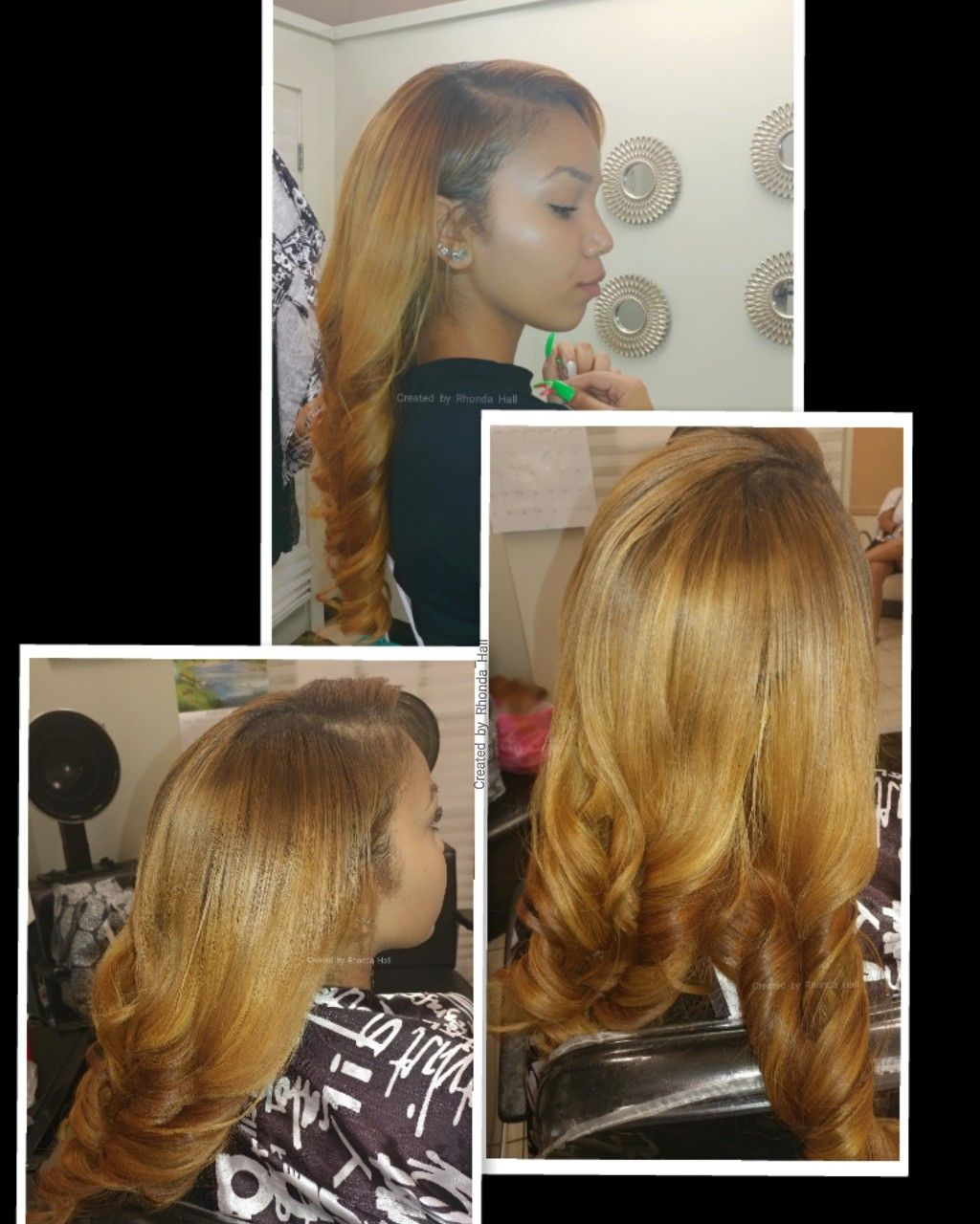 Custom Color Blend Natural Hair Colored Wefts Colored To Match
