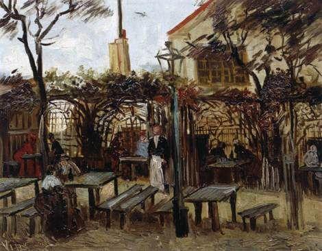 Vincent van Gogh, Terrace of a Café on Montmartre (La Guinguette) in - Description De La Chambre De Van Gogh