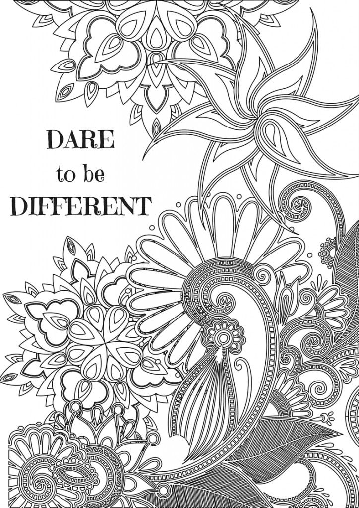 Inspirational Quotes for Adult Coloring Pages | Coloring ...