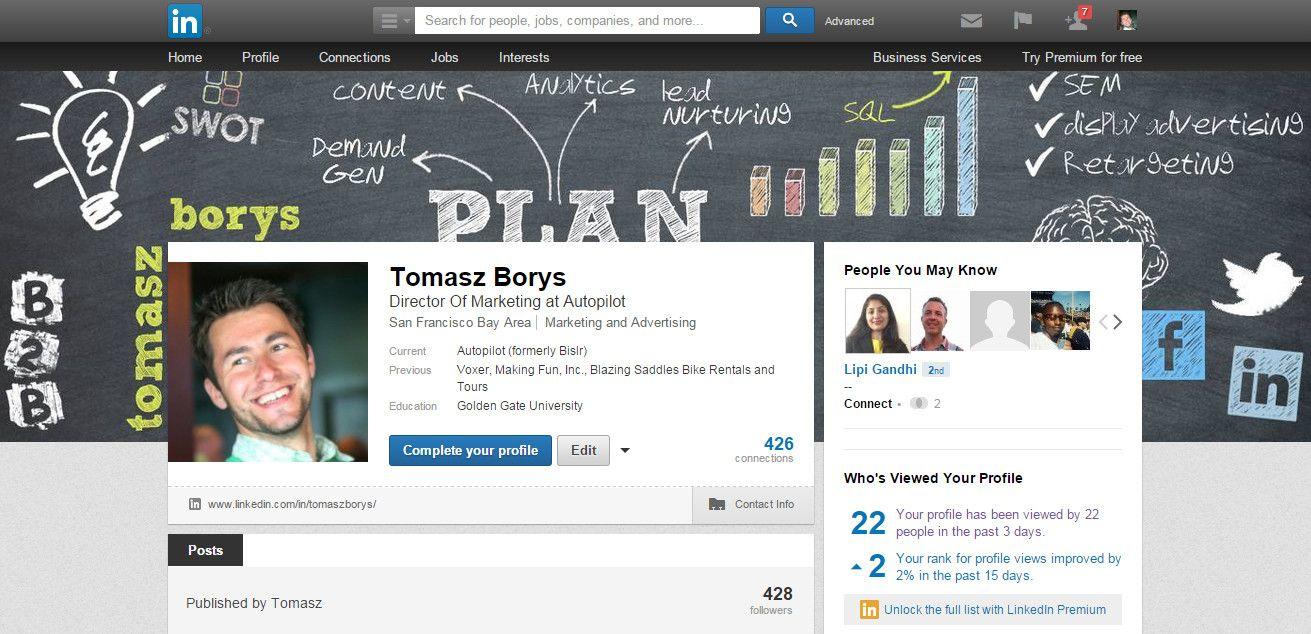 LinkedIn Profile Background Linkedin background