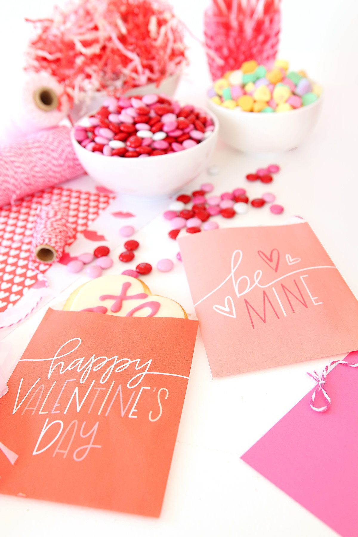 Printable Valentine Freezer Paper Treat Bags | damask love