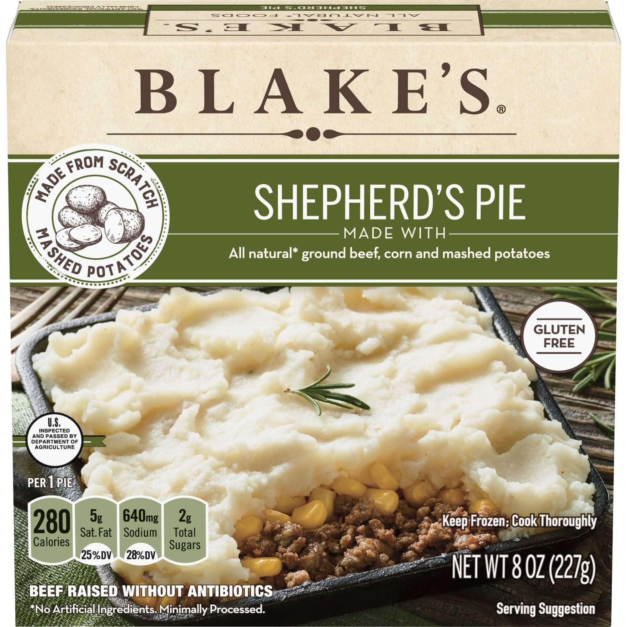 Blakes All Natural Frozen Shepherds Pie  8oz The satisfying effects of different foods are related when you choose to eat them during the day If you consume foods that ha...