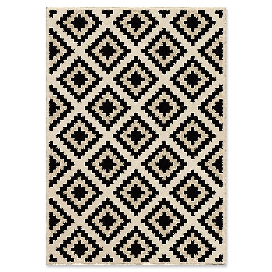 Orian Rugs Epiphany Cuba Seashells Woven 7'10 X 10'10 Area Rug In Ivory - The Epiphany Cuba Seashells Woven Area Rug from Orian Rugs is designed with a stain resistant ivory and black polypropylene fiber. Suitable for modern spaces, this transitional geometric floor covering offers both functionality and style.