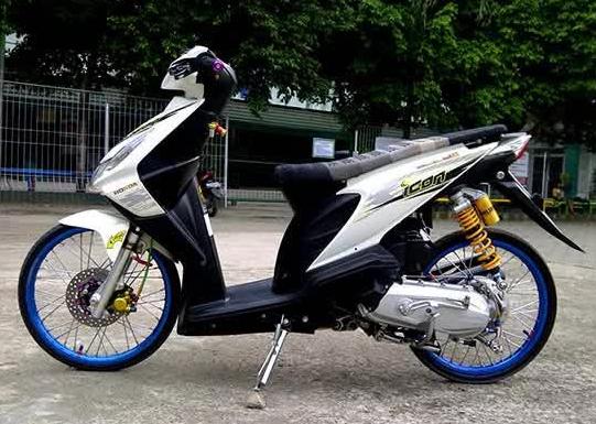 Modifikasi Honda Beat Standar Simple Honda Motor Motor Honda