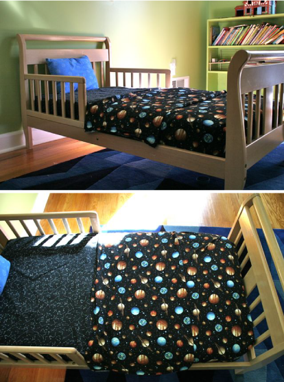 Toddler Top Sheet: Quick & Easy, with Fabric for Later   Nähen