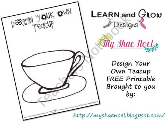 Design Your Own Teacup Art Printable From Learnandgrowdesigns On