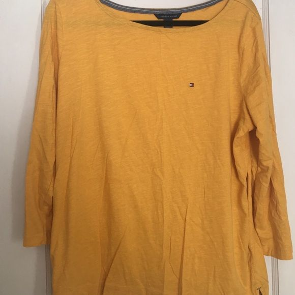 Tommy Hilfiger 3/4 Sleeve Tee Worn once....like new Tommy Hilfiger Tops Tees - Long Sleeve
