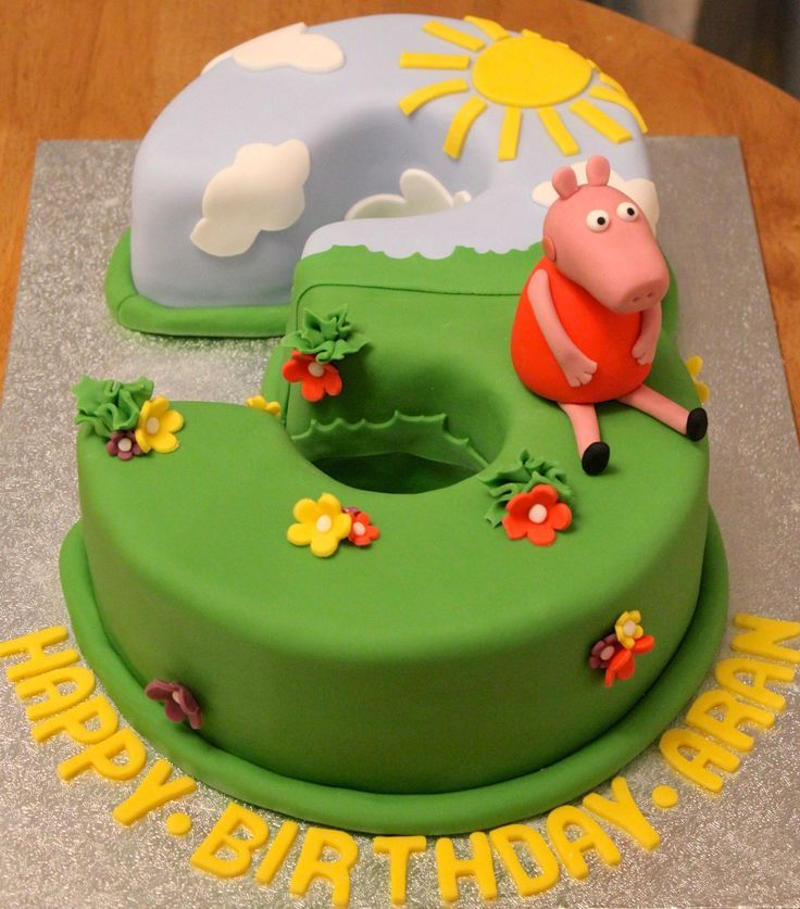 Image result for round peppa pig cakes rowans 3rd Pinterest