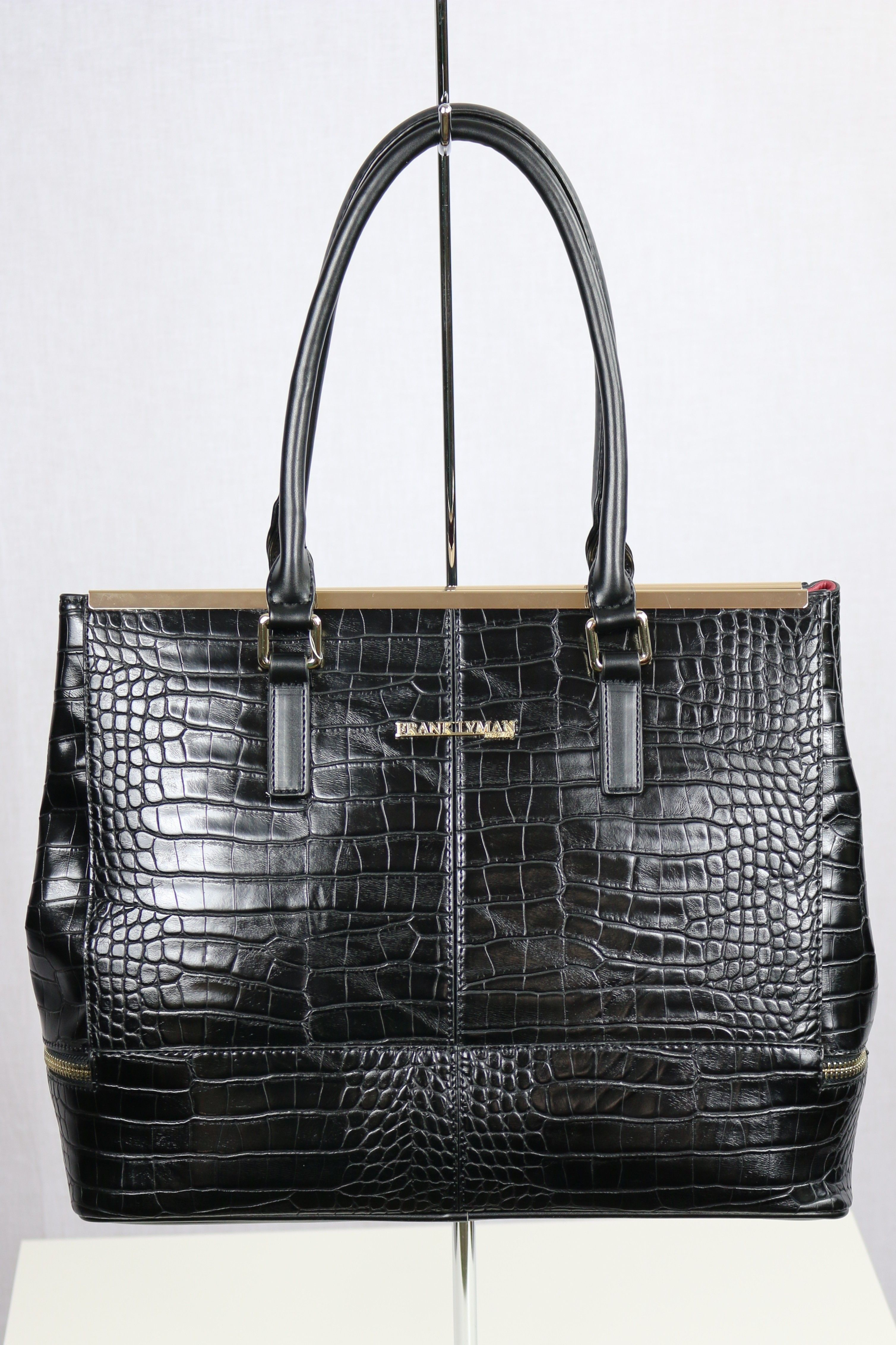 f7c851b05ba8 Frank Lyman Black/Gold Large Purse | Bags | Large purses, Black, Bags