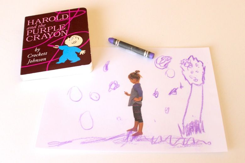 Harold and the purple crayon a dry erase activity