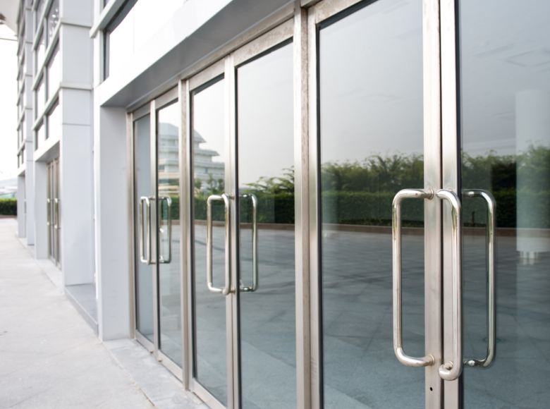 Synergy Glass Door Service Offers Installation And Repair Services For All The Glass In Your Business Or Commercial Glass Doors Door Installation Glass Door