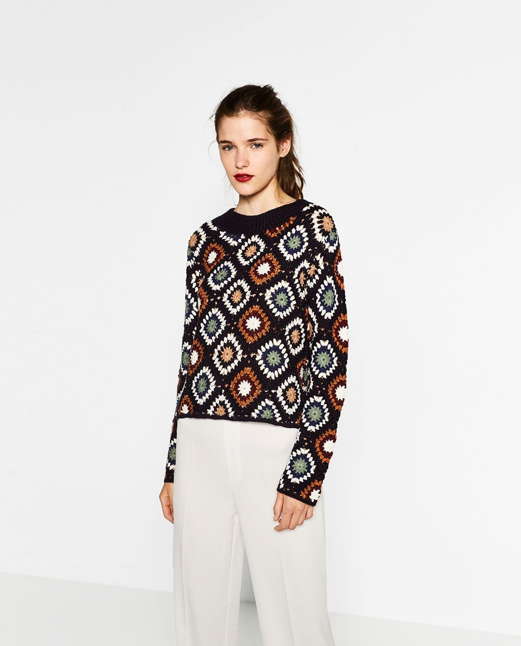 Image 1 of SPECIAL EDITION CROCHET SWEATER from Zara   Grannies ...