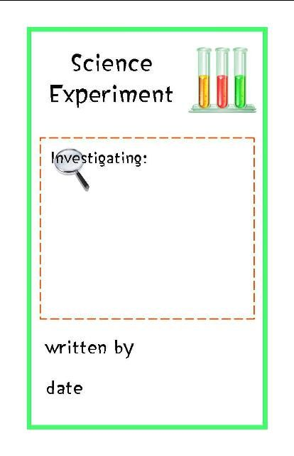 Science Experiment Log Free Printable Booklet From