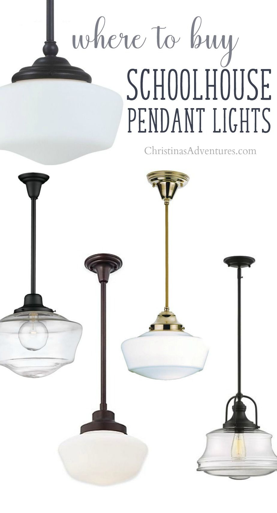 Genial The Best Sources For Schoolhouse Pendant Lights   For All Styles And  Budgets! This Post Also Shows How To Add Them To Your Home Decor For A  Timeless Look
