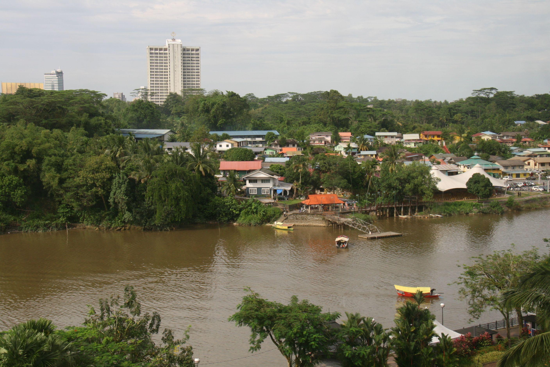 View Across Sarawak River From Hilton Hotel Kuching Borneo