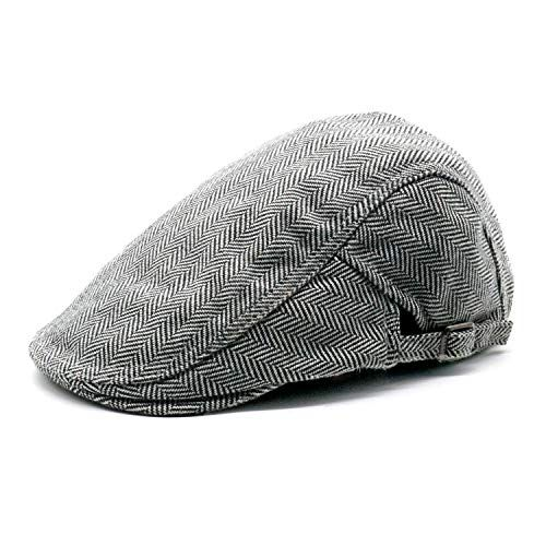 11.99 -  21.99 Men s Newsboy Gatsby Hats Cotton Flat Snap Vintage Beret Ivy  Cabbie Flat Driving 6a3cdb1ff288