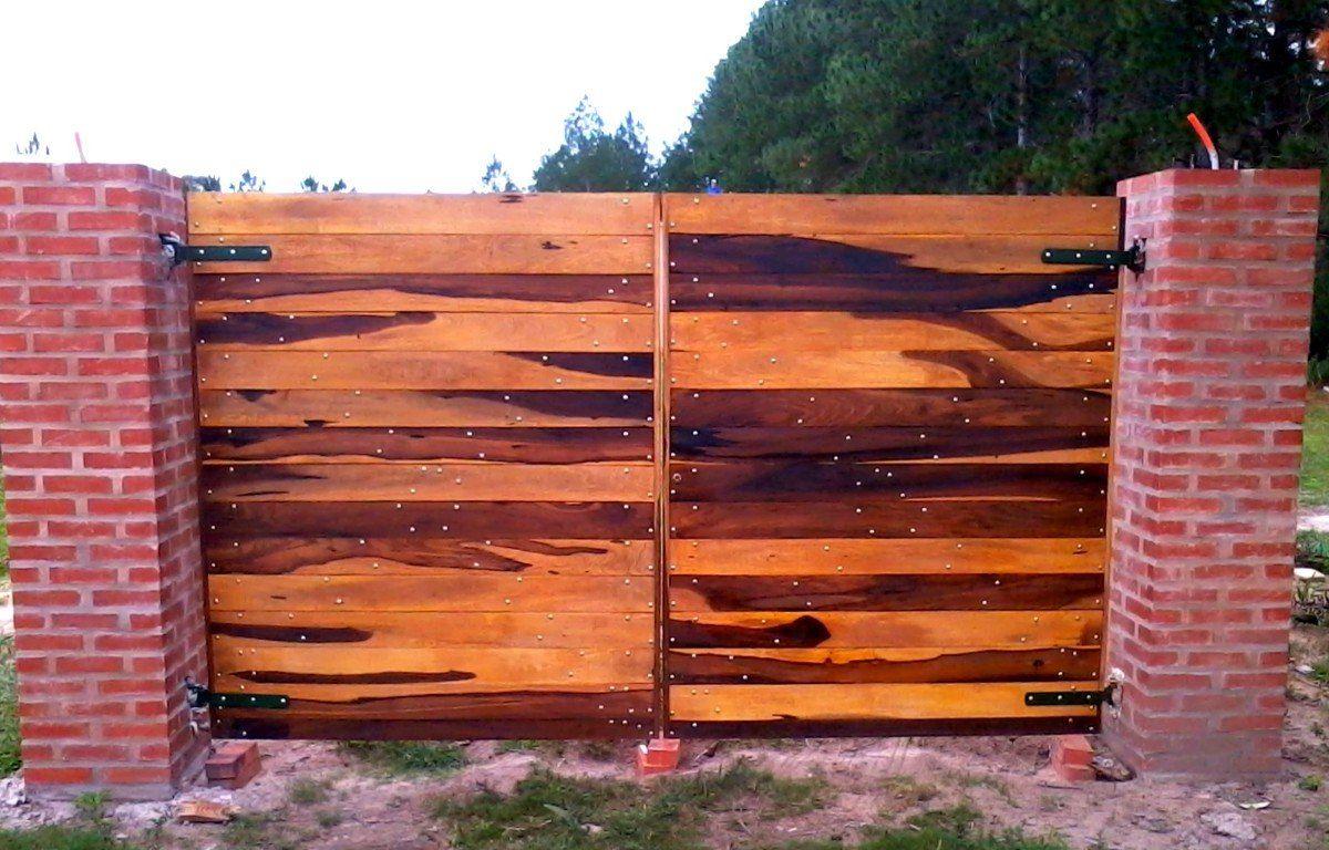 Portones ciegos madera dura anchico o guayubira exterior for Ventanas de madera mercadolibre argentina