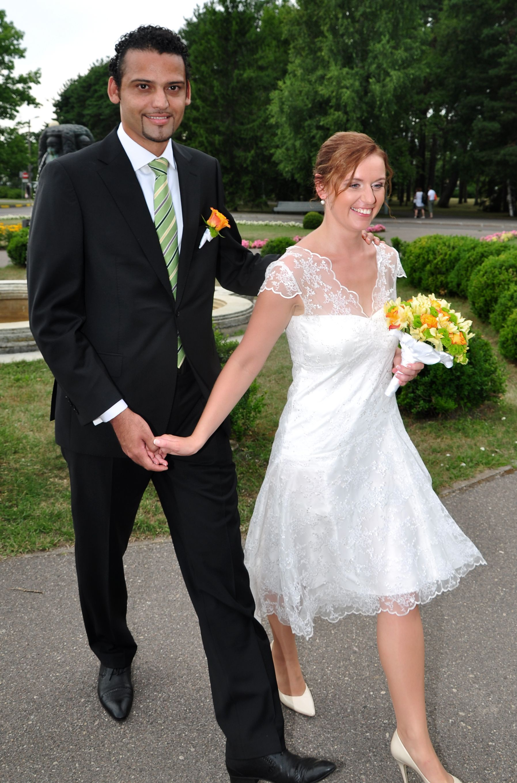 Kadrika short wedding dress for a civil wedding and reception