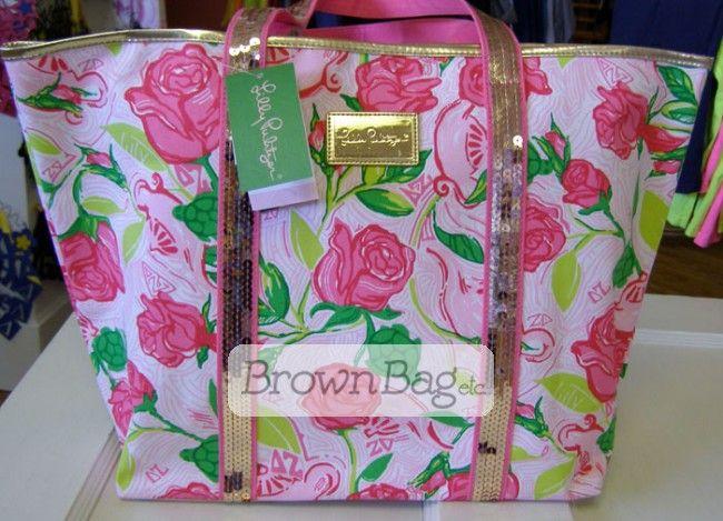 3cf315840da9b4 Delta Zeta Lilly Pulitzer Holiday Tote Bag | Want!! This! | Delta ...