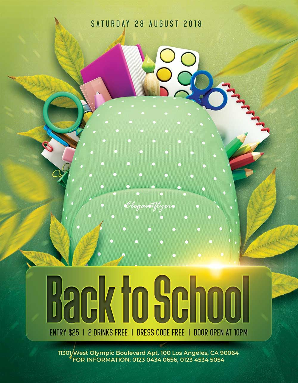 Download This Free Back To School Flyer Mockup In Psd Flyer