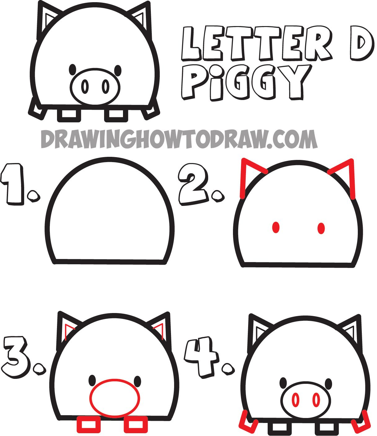 Huge Guide To Drawing Cartoon Animals From The Uppercase Letter D Drawing Tutorial For Kids How To Draw Step By Step Drawing Tutorials Cartoon Drawings Drawing Tutorial Drawing Tutorials For Kids