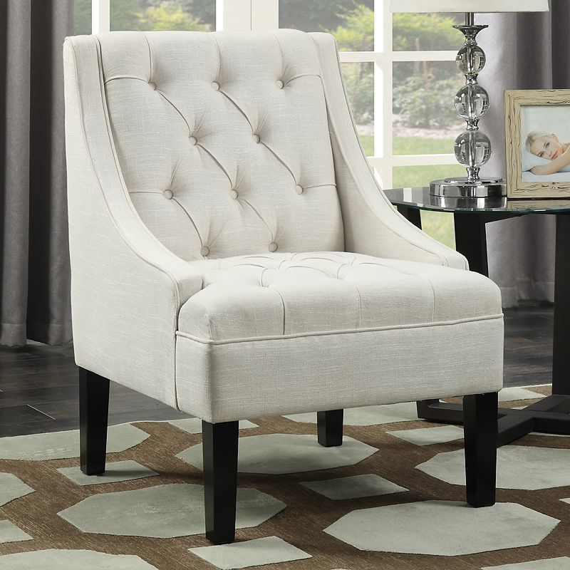 Peachy Pulaski Tufted Swoop Arm Accent Chair Products In 2019 Ibusinesslaw Wood Chair Design Ideas Ibusinesslaworg