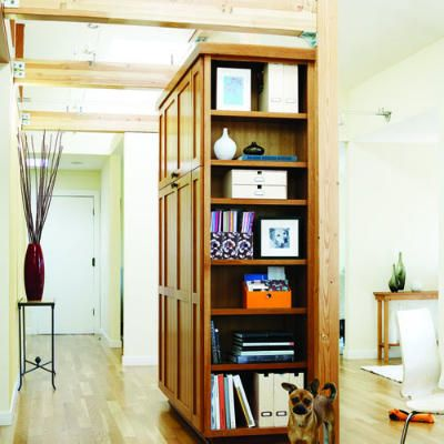 Storage Room Divider A Freestanding Cabinet Provides Open And Closed Storage  While Serving As The Principal Divider Between The Open Living Dining And  ...
